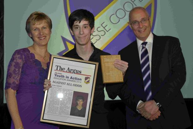 Student beats all odds to win Youth in Action gong