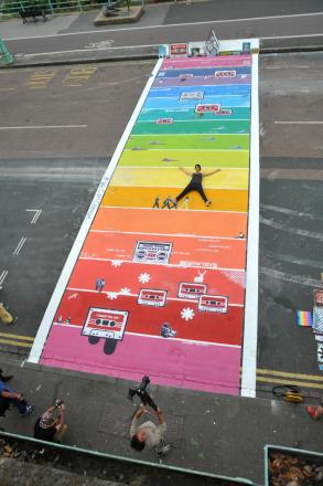 'Hands off our rainbow crossing'