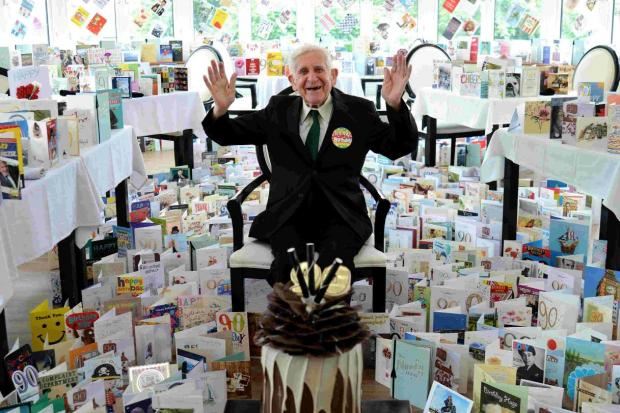 The Argus: Bernard Jordan received 3,000 cards and presents for his 90th birthday