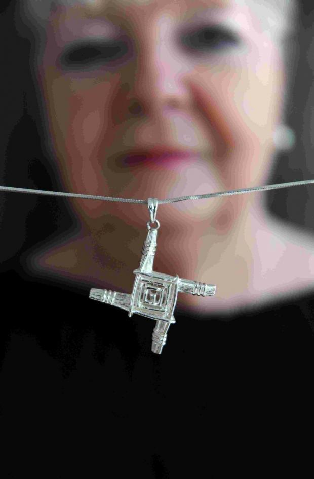 The Argus: Mary Mears with the St Brigid's Cross