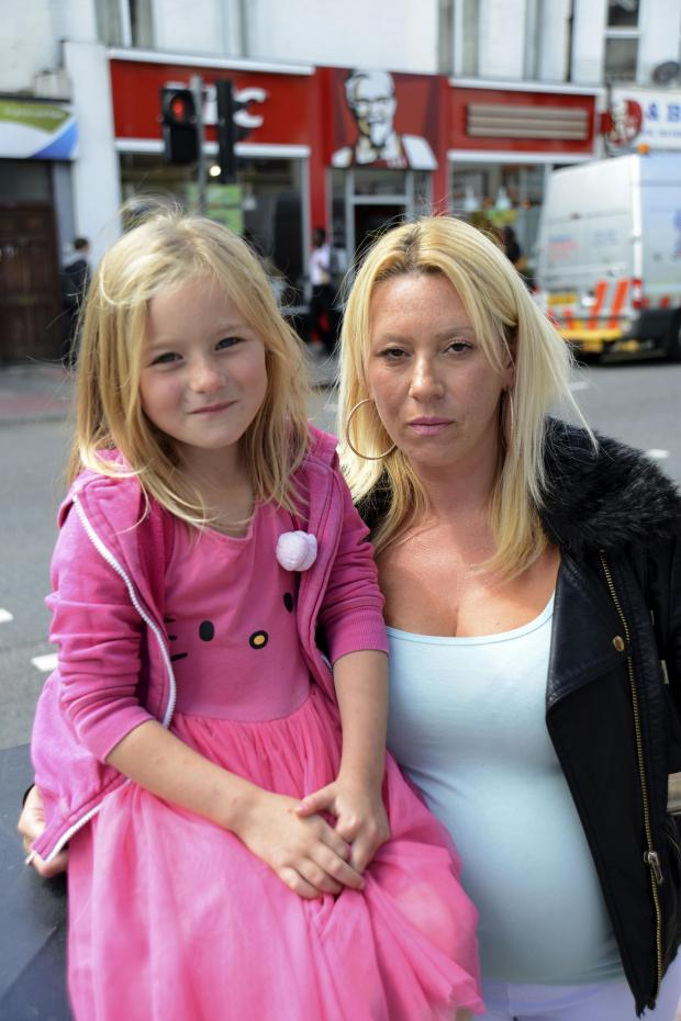 The Argus: Sarah Crouch, 34, and daughter Becky