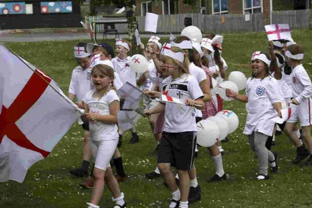 The World Cup Walk at Holy Cross Church of England Primary School