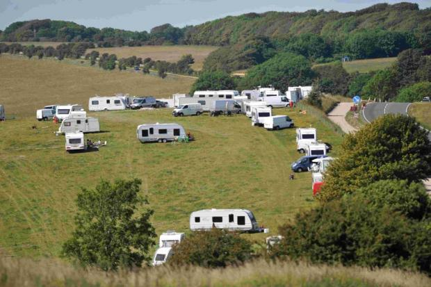The caravans on the land