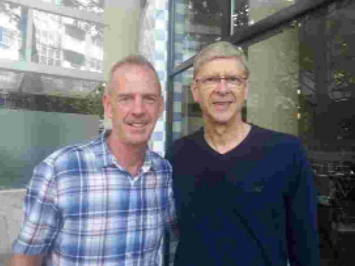 Fatboy with Arsene Wenger in Brazil
