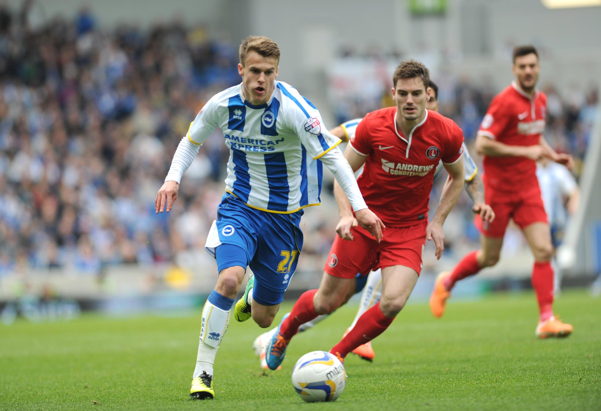 Solly March played for England under-21s with Jake Forster-Caskey this summer