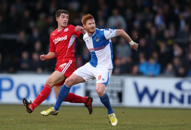 Matt Harrold pictured in action for Bristol Rovers against Crawley in the FA Cup last season