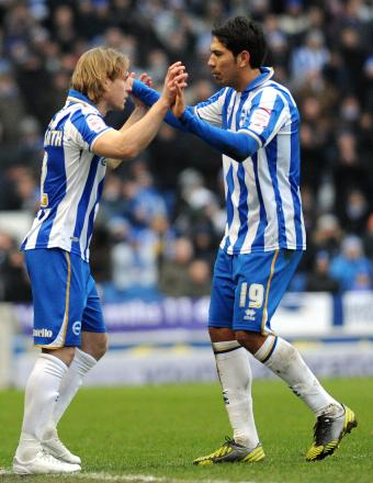 Craig Mackail-Smith would prefer to be on the pitch at the same time as Leo Ulloa