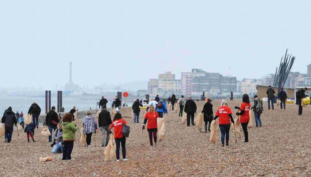 Hundreds of volunteers took part in The Argus Beach Clean in Brighton in May