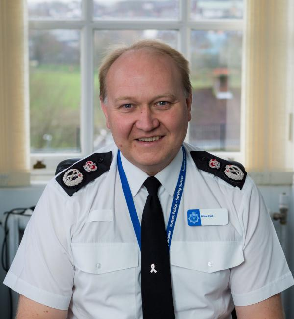 Giles York is the new chief constable of Sussex Police