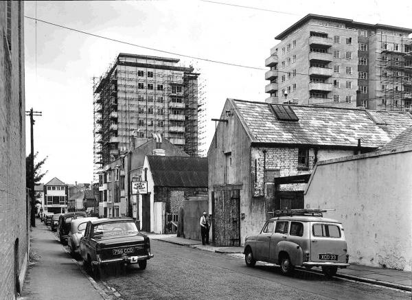 Montague Street, pictured 50 years ago