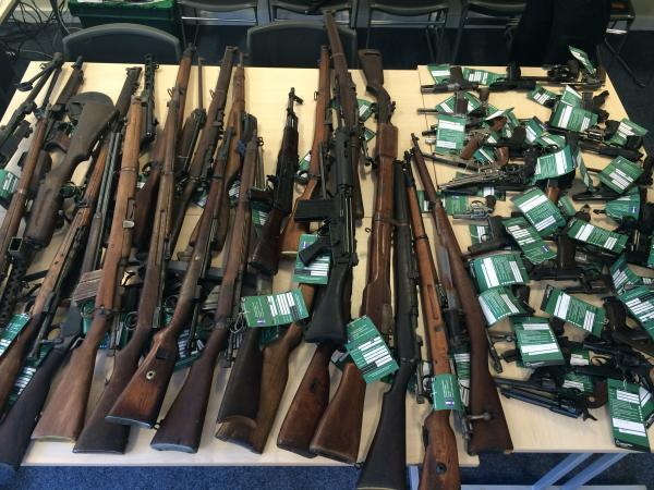 Haul of 70 guns seized from house