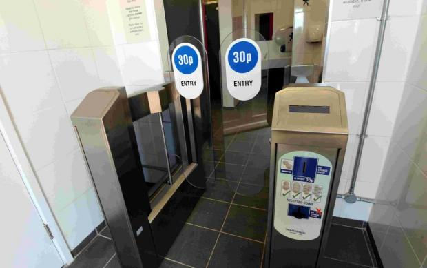 Refurbished seafront toilets charge for entry