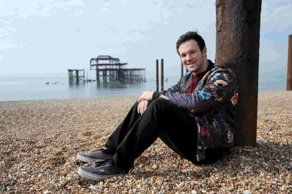 Collabro star Richard  Hadfield from Brighton will be singing at the pride event at Preston Park