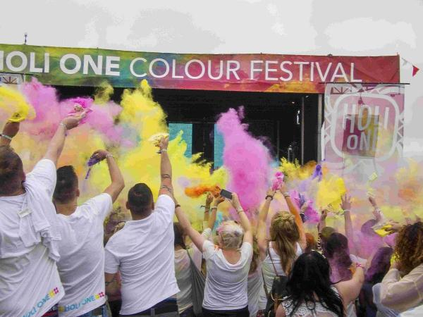 Riot of colour at Holi One Festival. Pictures: Anna Pumer Photography