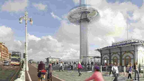 Spotlight on businesses behind Brighton i360 as ground is broken