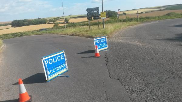 A283 closed near Pulborough after motorbike crash