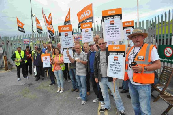 Anger and frustration on the picket lines