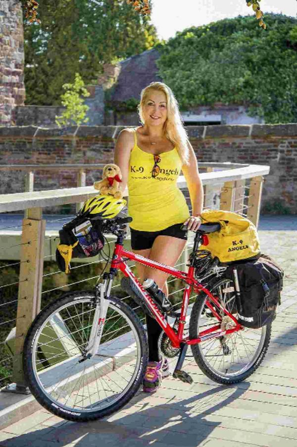 Former model, Victoria Eisermann, cycled 300 miles in aid of stray dogs