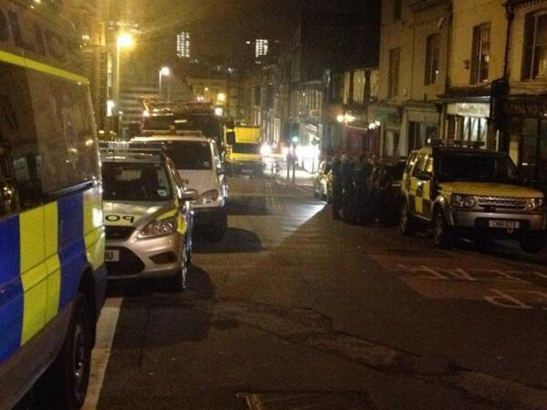 The Argus: Police at the scene last night