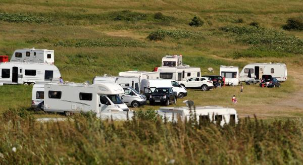 Travellers in Wilson Avenue earlier this month