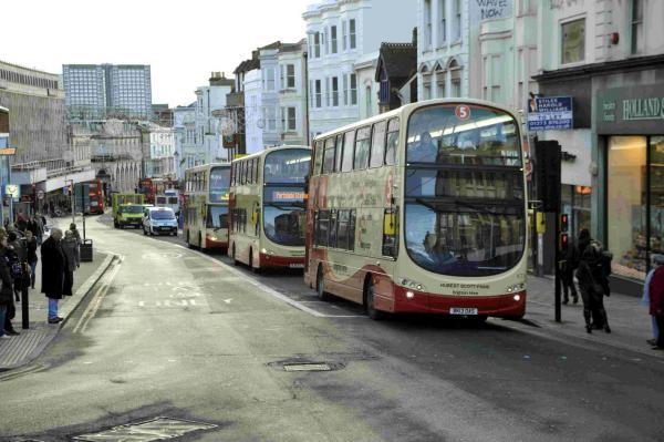 Buses on North Street