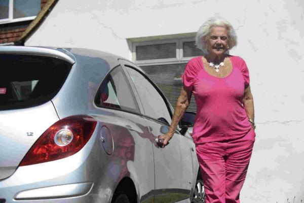Betty Teague, 85, is banned from driving after becoming the oldest woman to be caught drink driving in the country.