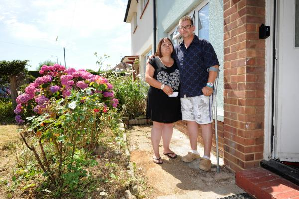 Lisa and Lewis Rickett, they have had a lily planted in memory of their stillborn daughter stolen from the front of their house