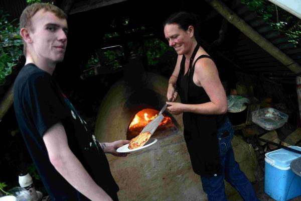 The Argus: Serving up a pizza during the Moulsecoomb Forest Garden and Wildlife Project open day