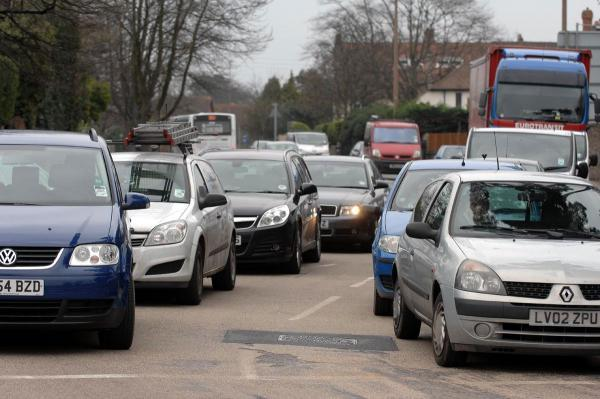 Congestion on the A27 at Worthing
