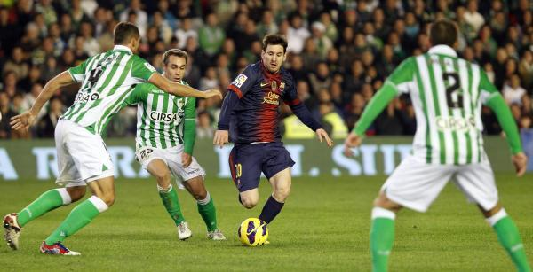 Real Betis have suffered setbacks since the days when they took on stars like Leo Messi