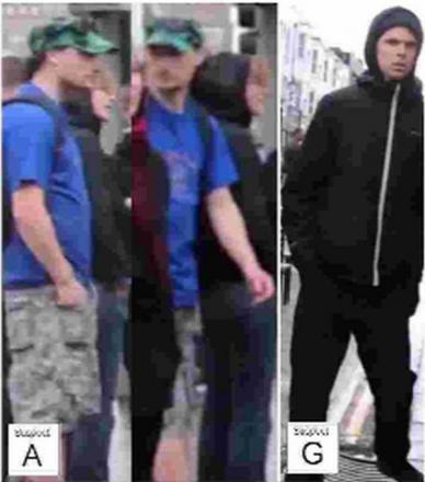Police would like to speak to these men following a brawl