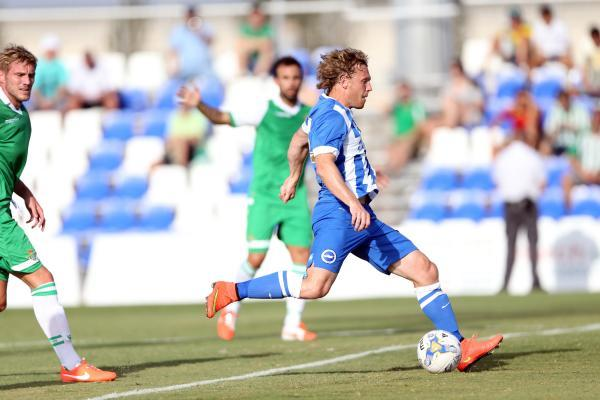 Craig Mackail-Smith continued his pre-season goal rush in Spain tonight. Picture: Paul Hazlewood