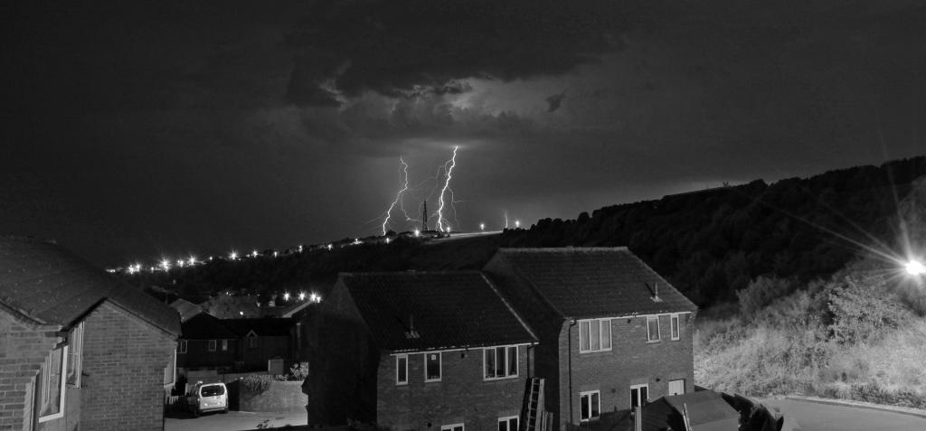 The Argus: @brightonargus What a great Thunderstorm we had last night at the top of #Whitehawk picture proves it was awesome