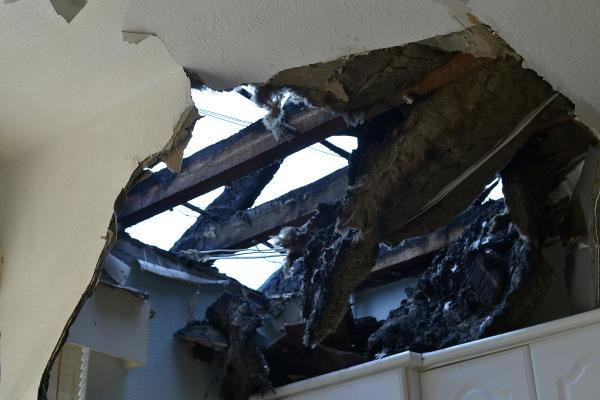 Portslade house hit by lightning