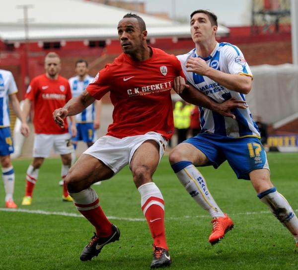 Chris O'Grady in action against Albion last season