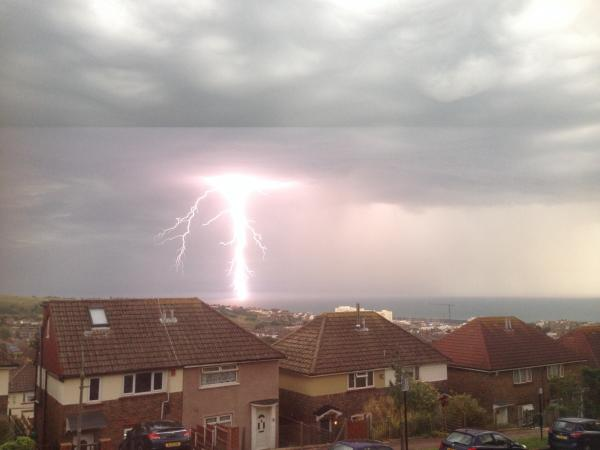 Incredible pictures: Violent storms hit Sussex for the second night