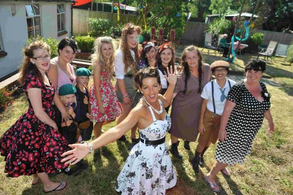 Staff at the home wore 1940s dress to remind residents of their youth