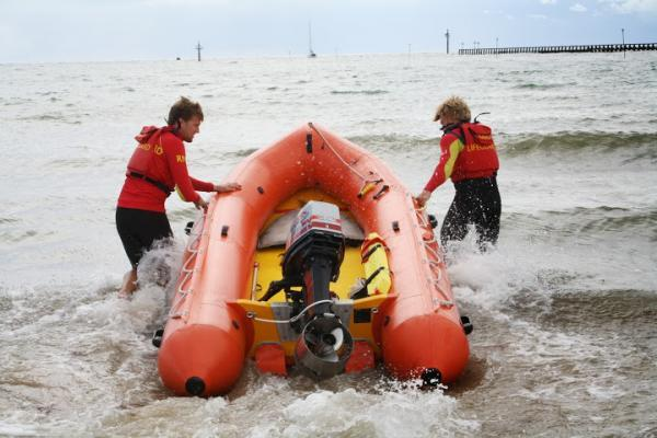 Two women rescued after jumping from dinghy