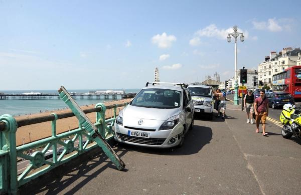 The Renault Scenic involved in the accident