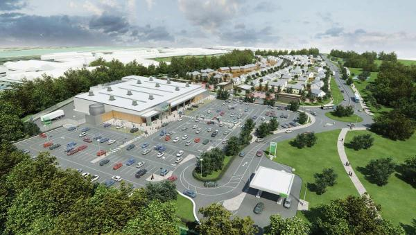 Artist's impression of the proposed Asda at Newhaven Eastside
