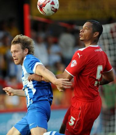 Craig Mackail-Smith in action at Crawley on Wednesday