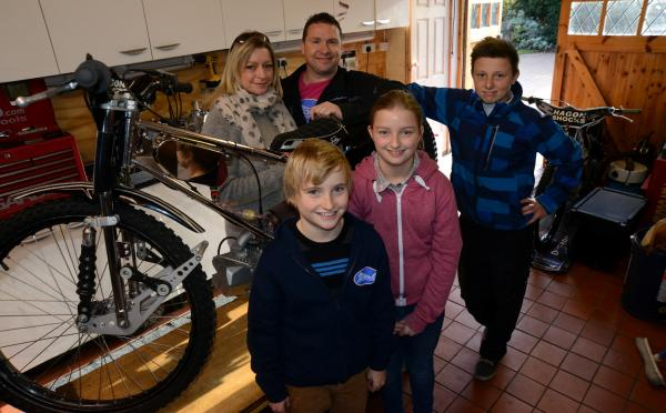 Martin Dugard works hard to help young speedway riders