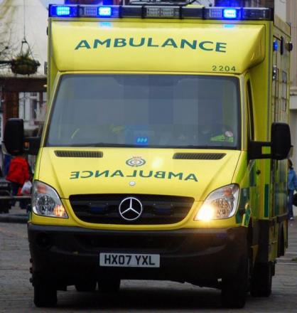 Ambulances were called to Surrey Street, Littlehampton, this afternoon