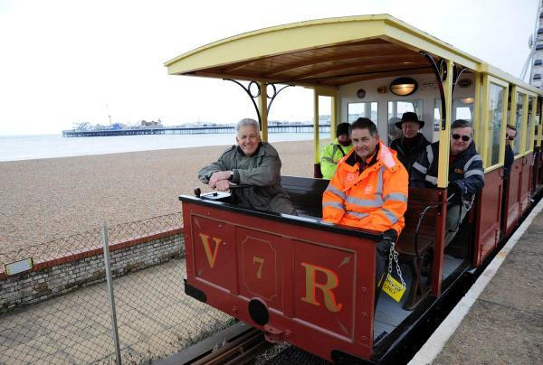 Broadcaster Nicholas Owen takes the wheel for the Volk's Railways first journey of the summer season last year