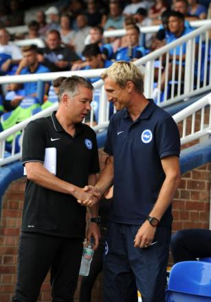 Sami Hyypia with Darren Ferguson at Peterborough (photo Simon Dack)