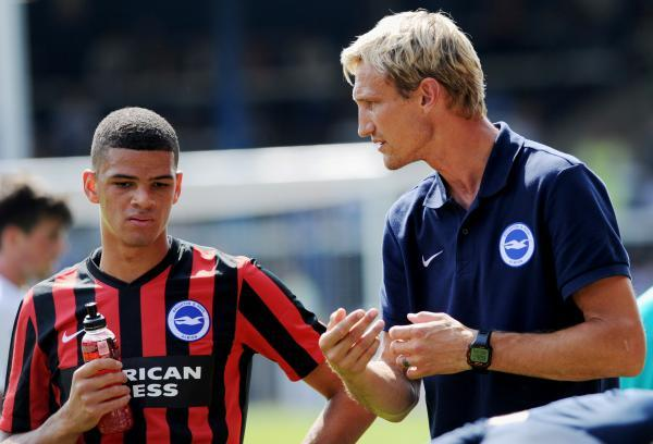 Sami Hyypia gives out advice at Peterborough on Saturday