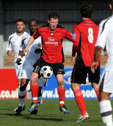 Matt Smart in action for Eastbourne Borough