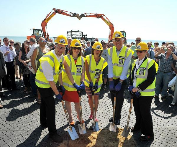 The ground breaking of the i360 on Brighton Seafront. Picture: Tony Wood (TW290714B2)