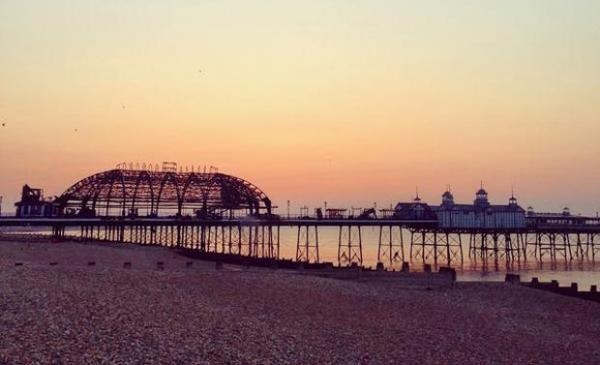 Eastbourne Pier at dawn.  Picture: ncdtweetz/Twitter