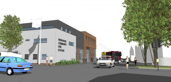 An artist's impression of how the Newhaven Community Hub building could look